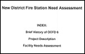 new district fire station need assessment